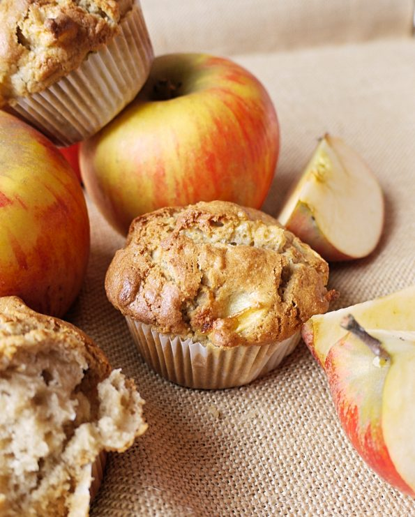 Muffin pomme et tahini cardamome et cannelle