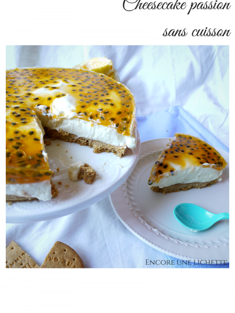 Cheesecake passion sans cuisson