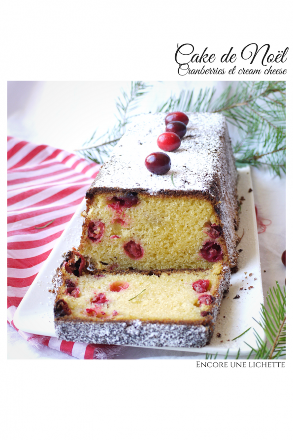 Cake de Noël, cranberries et cream cheese