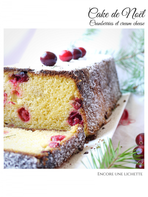 Cake de Noël aux cranberries et au cream cheese